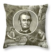 Abraham Lincoln Throw Pillow by English School