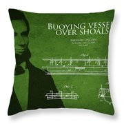 Abraham Lincoln Patent From 1849 Throw Pillow