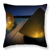 Abstract 3d Shapes  Throw Pillow