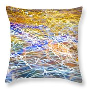 Abstract Background - Citylights At Night Throw Pillow