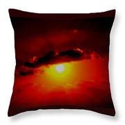 Abstract Sun Set Gran Cayman Throw Pillow