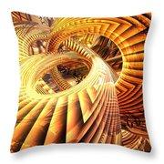 Abstract That Twisted Escher Fx  Throw Pillow