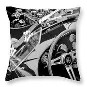 Ac Shelby Cobra Engine - Steering Wheel Throw Pillow