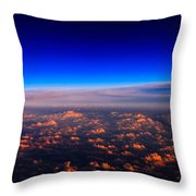 Aerial Moonrise Throw Pillow