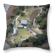 Aerial Near Jekyll Island Throw Pillow