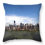 2-aerial View Of Manhattan Throw Pillow