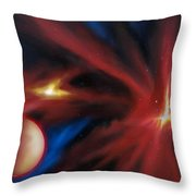 Agamnenon Nebula Throw Pillow