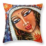 Akasha - She Who Carries The Memories Throw Pillow