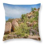 Al Safa Mountain Throw Pillow
