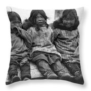 Alaska Eskimo Children Throw Pillow