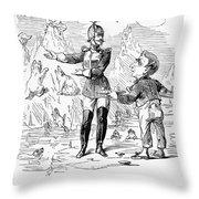 Alaska Purchase Cartoon Throw Pillow