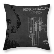 Albert Einstein Patent Drawing From 1930 Throw Pillow