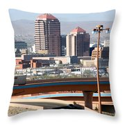 Albuquerque Skyline Throw Pillow