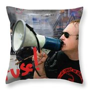 Alex Jones I Refuse Throw Pillow