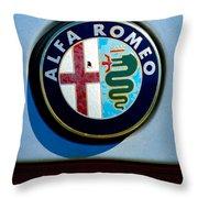 Alfa Romeo Emblem Throw Pillow