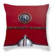 1961 Alfa Romeo Giulietta Sprint Veloce Series II Emblem -1038c Throw Pillow