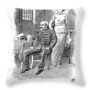 Alfred Dreyfus (1859-1935) Throw Pillow