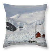 Almirante Brown Research Station Throw Pillow