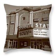Alpena Michigan - State Theater Throw Pillow