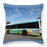 Ameren Missouri And Missouri Botanical Garden Metro Bus Throw Pillow