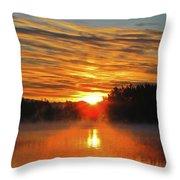 American Lake Sunrise Throw Pillow