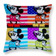 American Mickey Throw Pillow