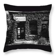 American Pool Hall Facade Version 1 Ghost Town Jerome Arizona 1968 Throw Pillow