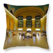 2 A.m.grand Central Station  Throw Pillow