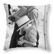 Amish Auction Day Throw Pillow