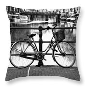 Amsterdam Scene Throw Pillow