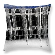 An Icy Challenger Throw Pillow