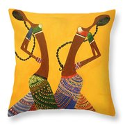 An Indian Dance Form Throw Pillow