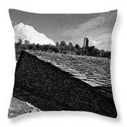 An Old Spanish Town Puente De Montanana Throw Pillow