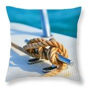 Anchor Line Throw Pillow