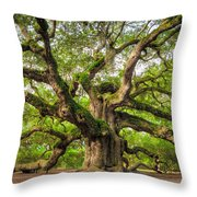Angel Oak Tree Of Life Throw Pillow