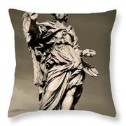 Angel Statue Throw Pillow