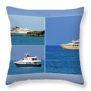 Antibes - Superyachts Of Billionaires Throw Pillow