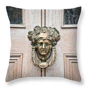 Antique Door Knocker Throw Pillow