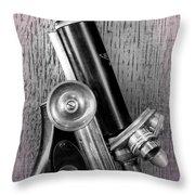 Antique Microscope Throw Pillow