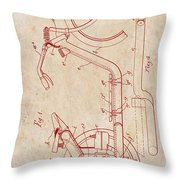 Antique Motorcycle Patent 1921 Throw Pillow