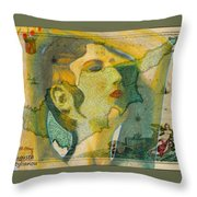Aphrodite And Ancient Cyprus Map Throw Pillow