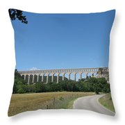 Aqueduct Roquefavour Throw Pillow