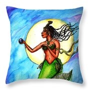 Arania Queen Of The Black Pearl Throw Pillow