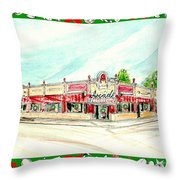 Arcade Restaurant Memphis Throw Pillow