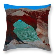 Arch Rock - Valley Of Fire State Park Throw Pillow