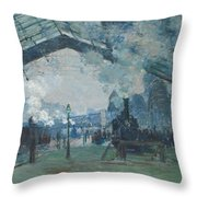Arrival Of The Normandy Train Throw Pillow