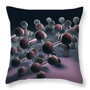 Arsenic Molecular Structure Throw Pillow