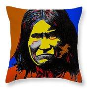 Art Homage Andy Warhol Geronimo 1887-2009 Throw Pillow