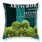 Artichokes Farm Throw Pillow