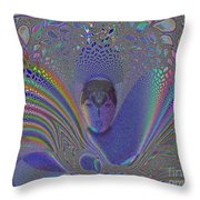 Asian Flight Of Vision Throw Pillow